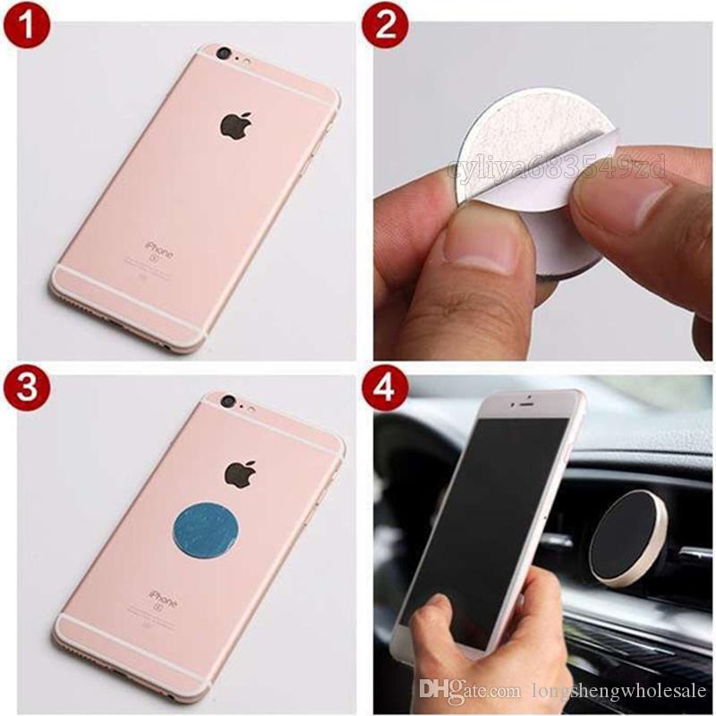 Car Magnetic Smart Air Vent Mount Support de portable Dashboard main libre Téléphone Support métal pour téléphone portable iPhone X 8 Samsung S9 plus