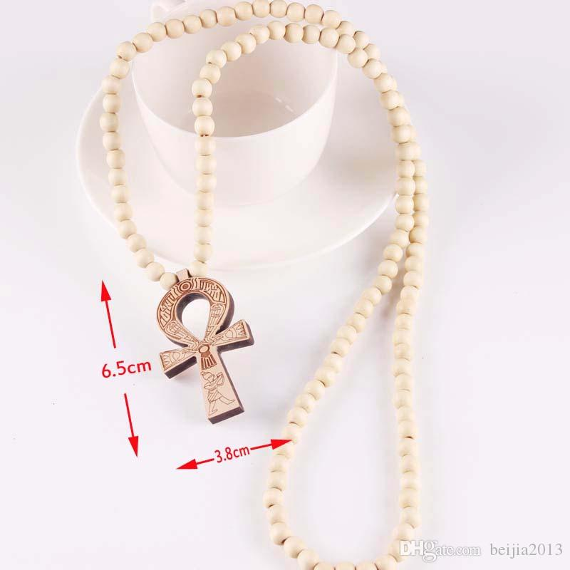 ANKH Egyptian Power of Life Good Wood Hip Hop Necklace Wholesale #MG304