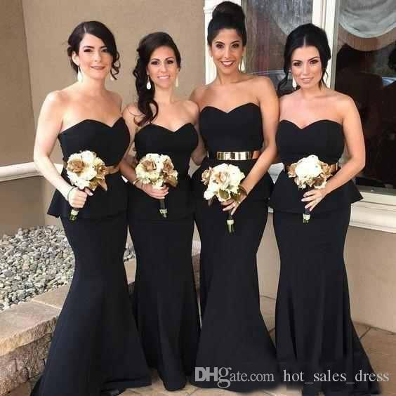 d6546bae4bbd black satin bridesmaid dresses – Fashion dresses