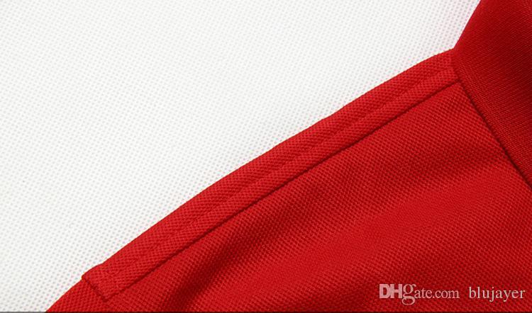2018 New Brand Men Polo Shirt Boys Lapel Short Sleeve T Shirt Big Embroidery Horse T Shirts Fashion Men Top Clothing