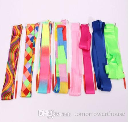 4M Colorful Fitness Art Gymnastic Ballet Streamer Twirling Rod Stick Wand Dance Ribbon