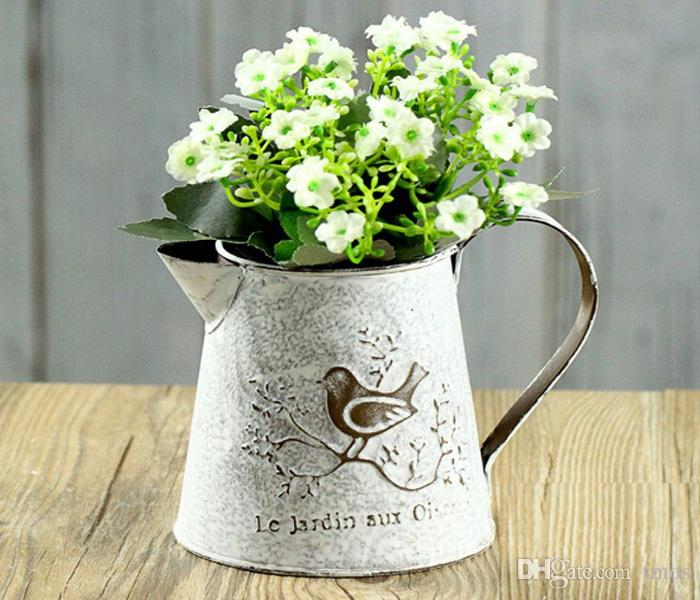2019 Pack French Style White Shabby Pitcher Vintage Rustic
