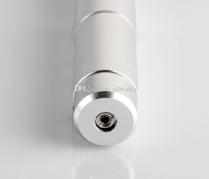 Dhl ücretsiz Gümüş Yeni Elektrikli Otomatik Derma Kalem Terapi Damga Anti-aging Yüz Mikro İğneler elektrik kalem perakende ambalaj Ile DHL ücretsiz kargo