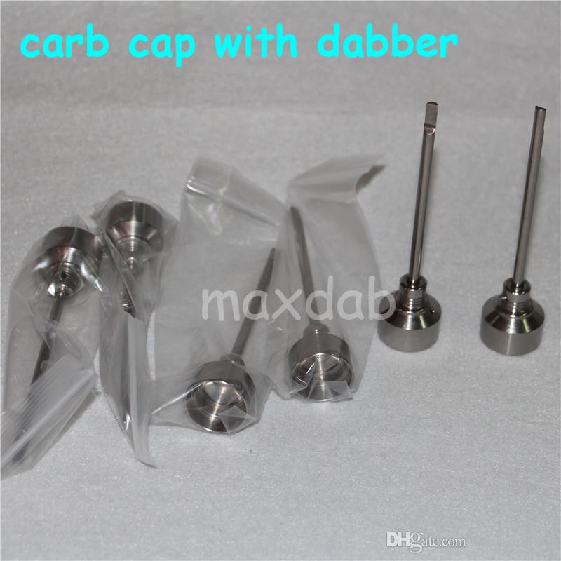 Domeless Titanyum tırnak titaniumTi Tırnak 14mm 18mm Erkek FemaleCarb Cap Dabber Sınıf 2 VS Seramik Çivi Kuvars Nai Cam su borusu bong
