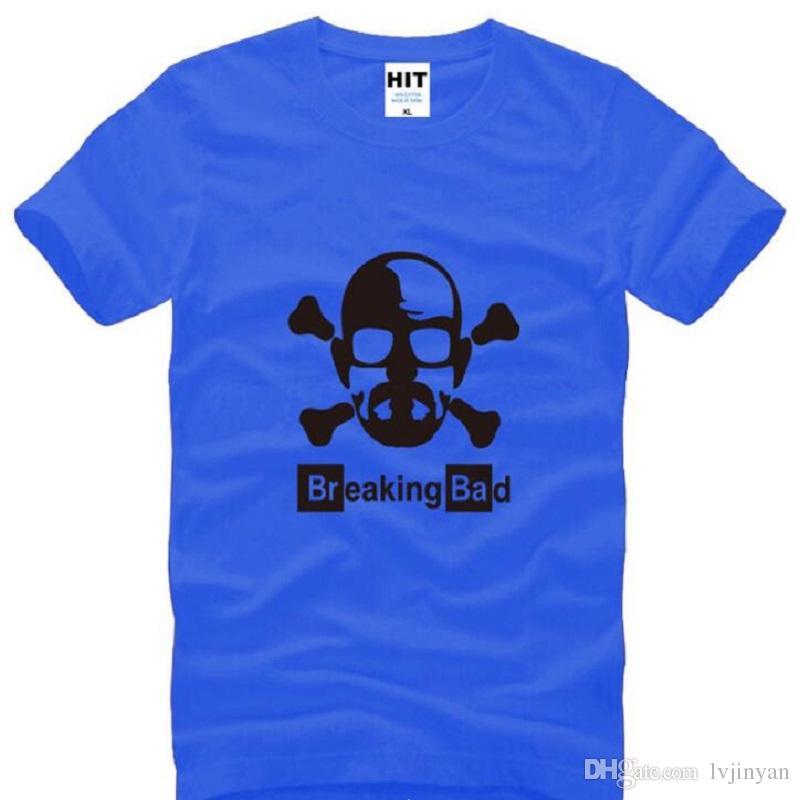 Brechen des schlechten Heisenberg T-Shirts arbeiten kurze Hülsen-Mann-T-Shirt kühlen Schädel-T-Shirt um freies Verschiffen