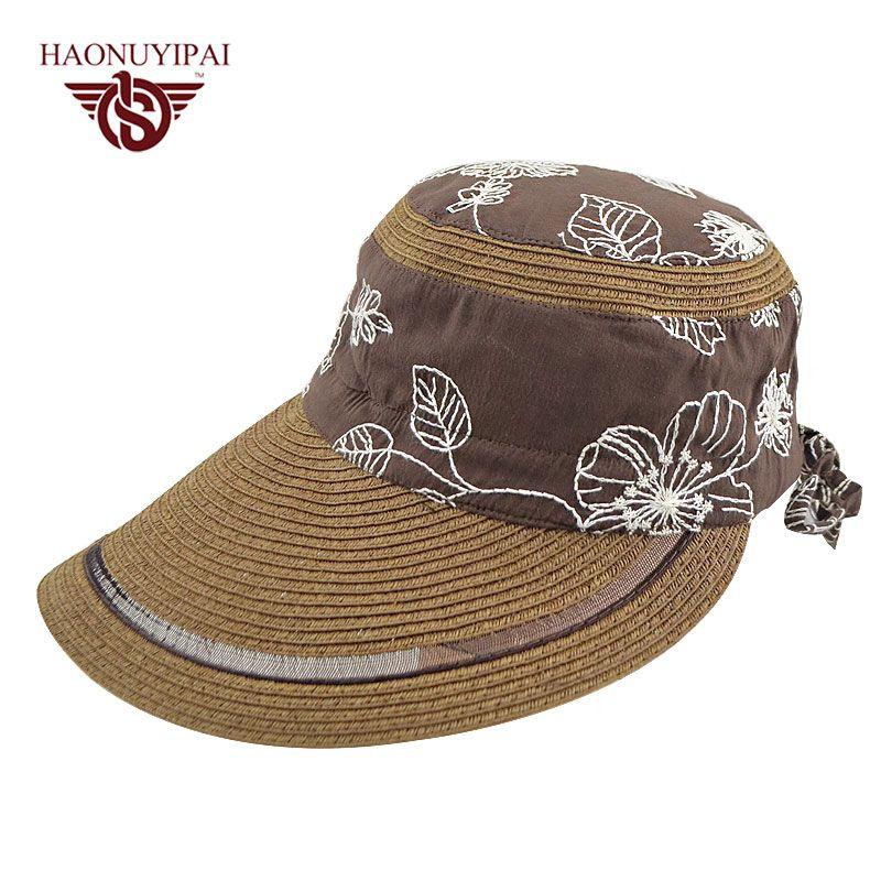 Wholesale Bohemia Sun Hats For Women Summer Headwear Accessories Black  Coffee Color Trip Beach Straw Long Visor Caps Chapeau Femme Cap Sun Hats  Sun Hat From ... d82f50c64760