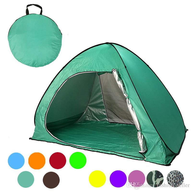 Summer Camp Tents Quick Automatic Opening Graduation Travel Tent Outdoors UV Protection SPF 50+ Tent for Beach Lawn 2-3 People /