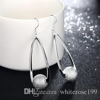 Vente en gros - Prix le plus bas cadeau de Noël Boucles d'oreilles en argent sterling 925 Fashion yE133