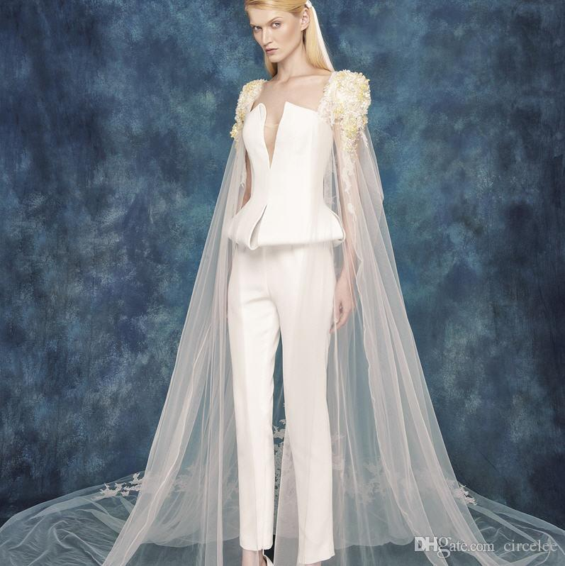 2016 newest wedding dresses pants non traditional wedding for Unusual dresses to wear to a wedding