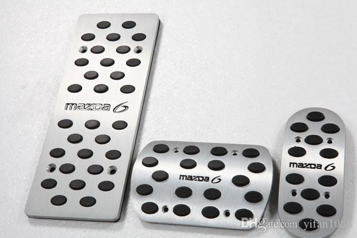 Car Accessories For Mazda 6 Mazda6 M6 Mechanical MT 2005-2009 Gas Brake Clutch Accelerator Pedal Pedale Pad Stickers Styling
