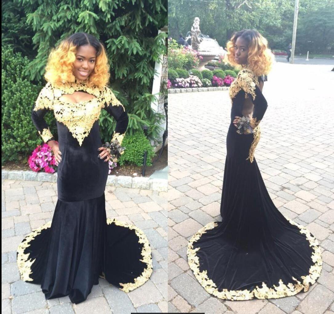 Großhandel Afrikanische Schwarze Mädchen Abschlussball Kleidet Hohen ...