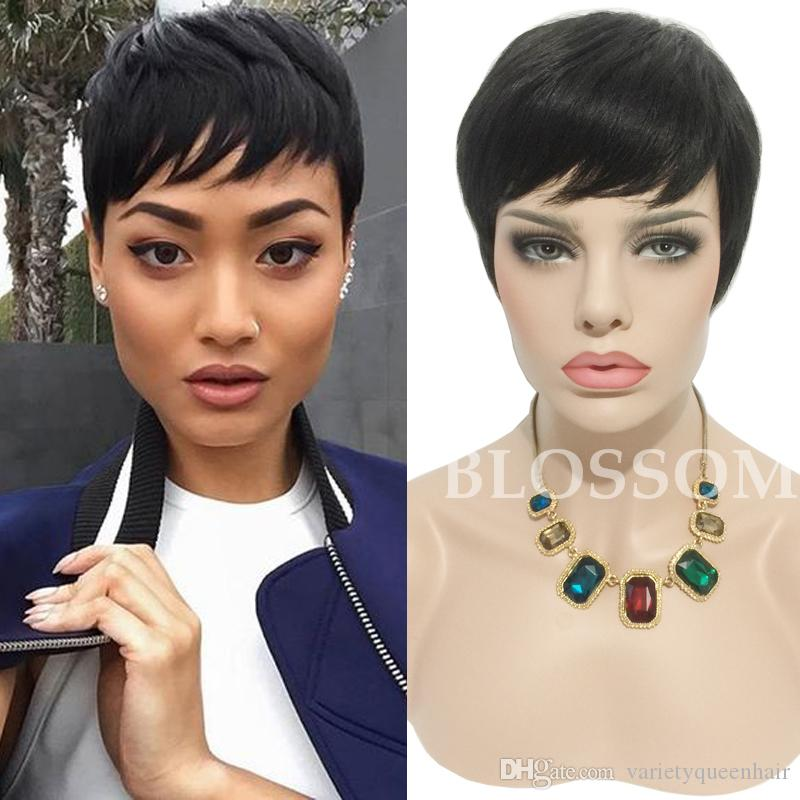 Pixie Wigs with Bangs