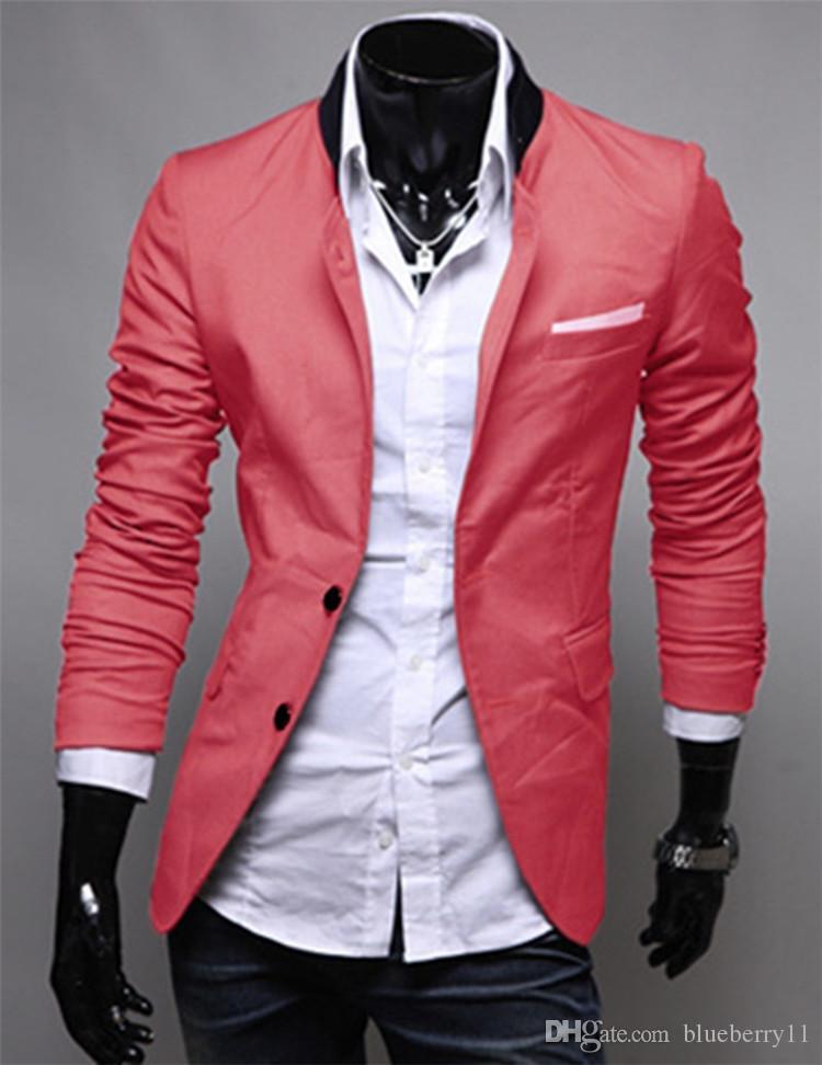 Мужские костюмы Blazers мода зима черные красные серые мужские повседневные одежды хлопок с длинным рукавом Slim Fit Fit стильный костюм Blazer Coats Jackets11