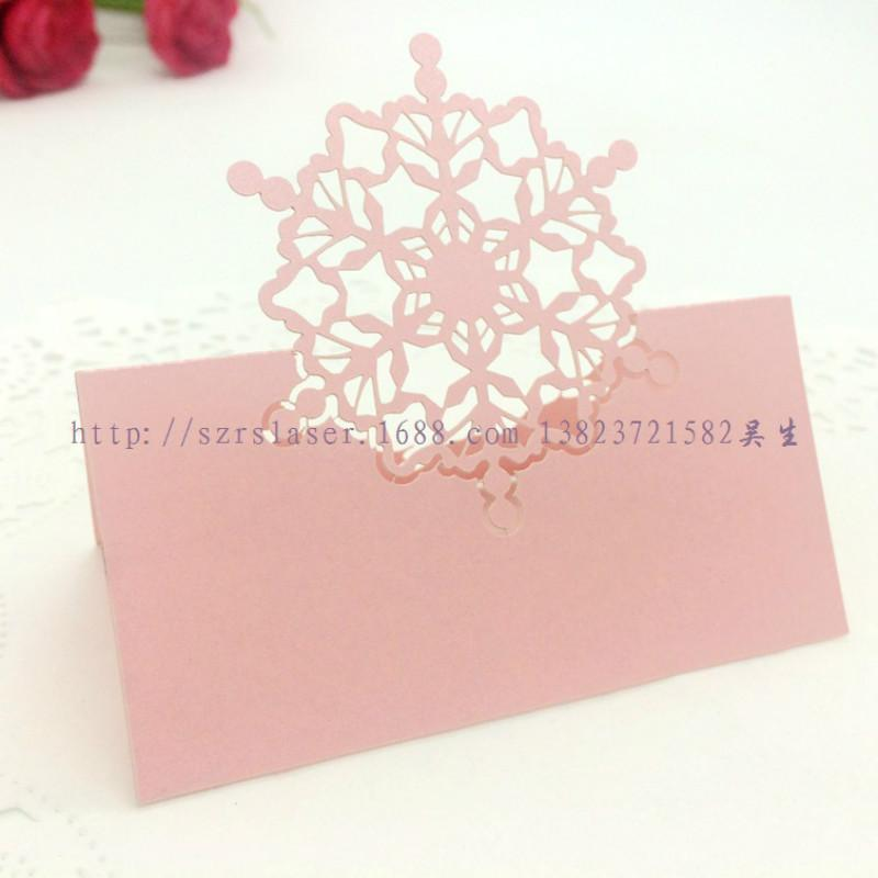 wholesale place cards name card snowflake party seat table decoration laser cut guest card favor christmas party decor paper craft online greeting cards