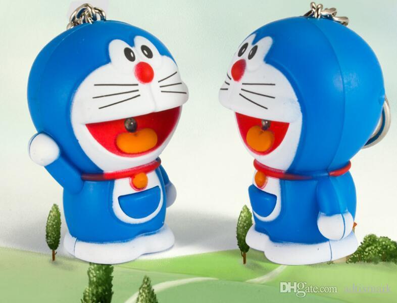 Doraemon Ein Traum Katze Telefon Riemen Schlüsselband Zubehör LED leuchtenden Sound Schlüsselbund Kindertag Geschenk