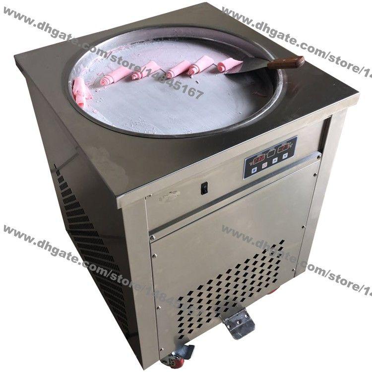 Stainless Steel 110v 220v Electric 50cm Thai Fry Pan Ice Cream Rolled Yogurt Machine Fried Ice Cream Roll Maker