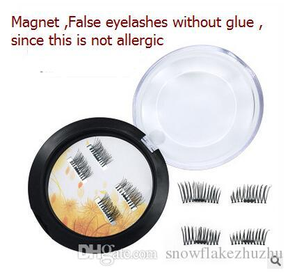 2017 Newest Without glue protein filament Sharpen magnetic false eyelash Natural and long 6 style Top quality
