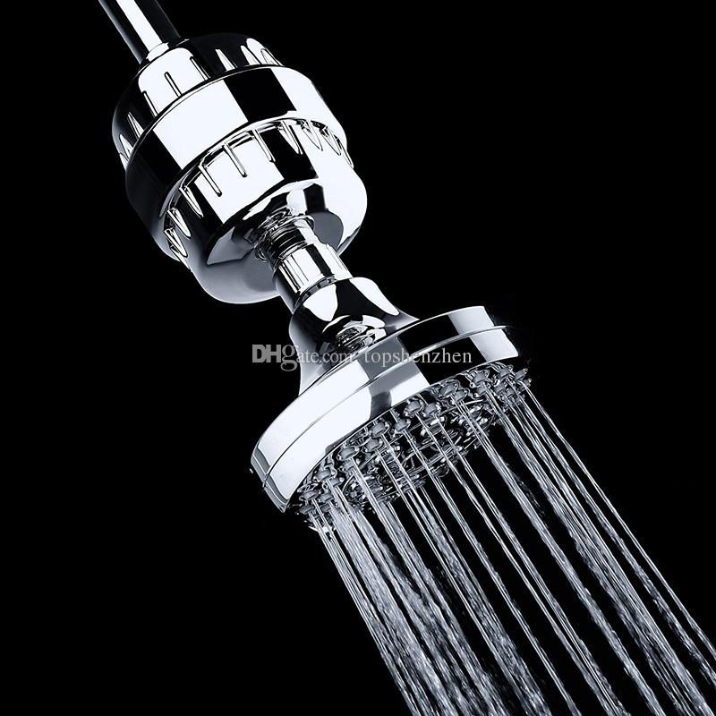 2017 Nova Alta Vazão Universal Filtro Do Chuveiro com Substituível Multi-Estágio Cartucho de Filtro de tratamento de água Amaciante de saúde Remoção de Cloro