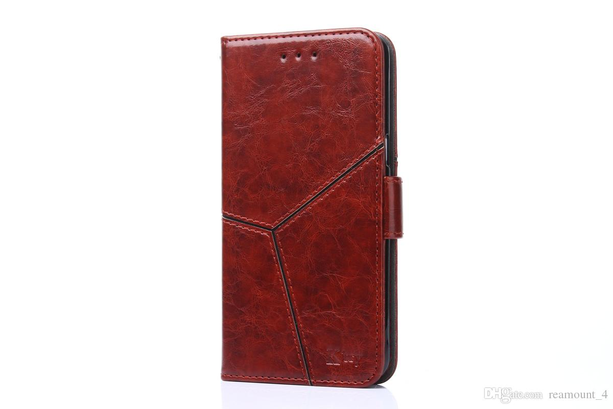 Wholesale Stitching Leather Case For Samsung Galaxy S5 S6 S7 Luxury Wallet Case Flip With Stand Card Holder Funda Cover