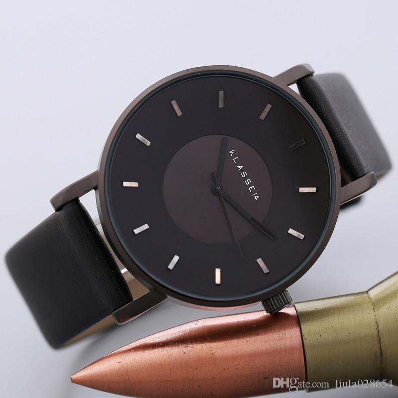 2017 Luxury Brand KLASSE14 Fashion Casual Leather Watches Donna uomo Busines orologio