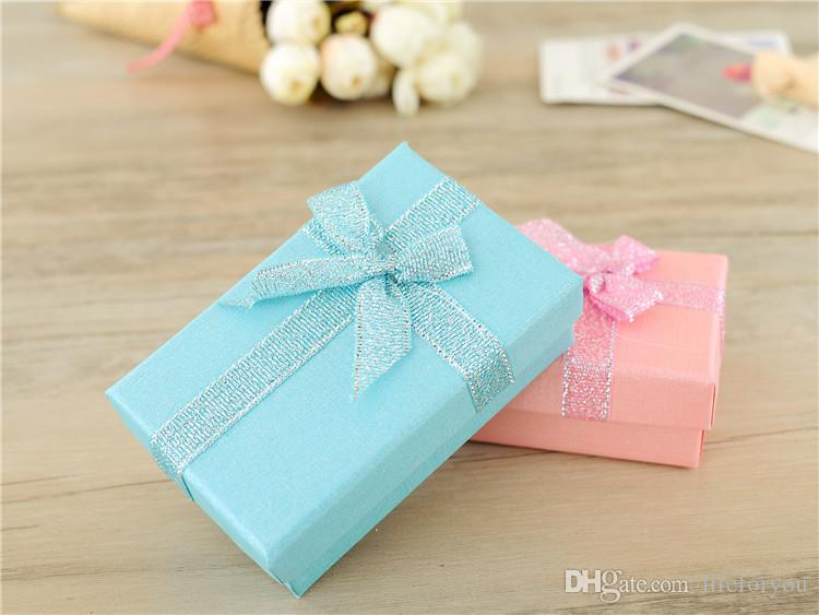 Confezioni regalo da 12 scatole scatolina portagioie scatole porta fermagli o anello 5 * 8 cm