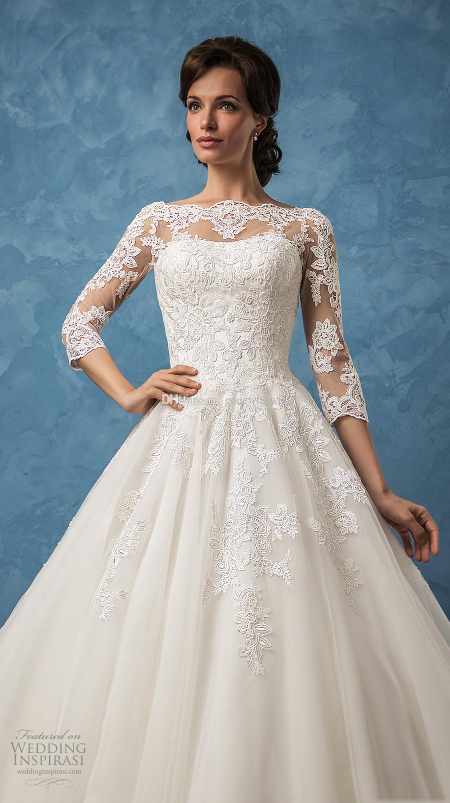 Ball Gown Vintage Wedding Dresses 2017 Amelia Sposa Bridal 3/4 ...