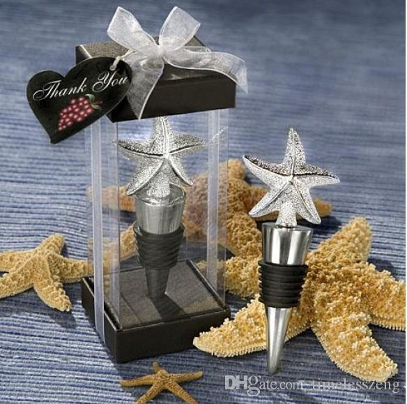 Galvanized Starfish Wine Bottle Stopper /Wine Pourer Favors very good for home decor Nice wedding favour gift
