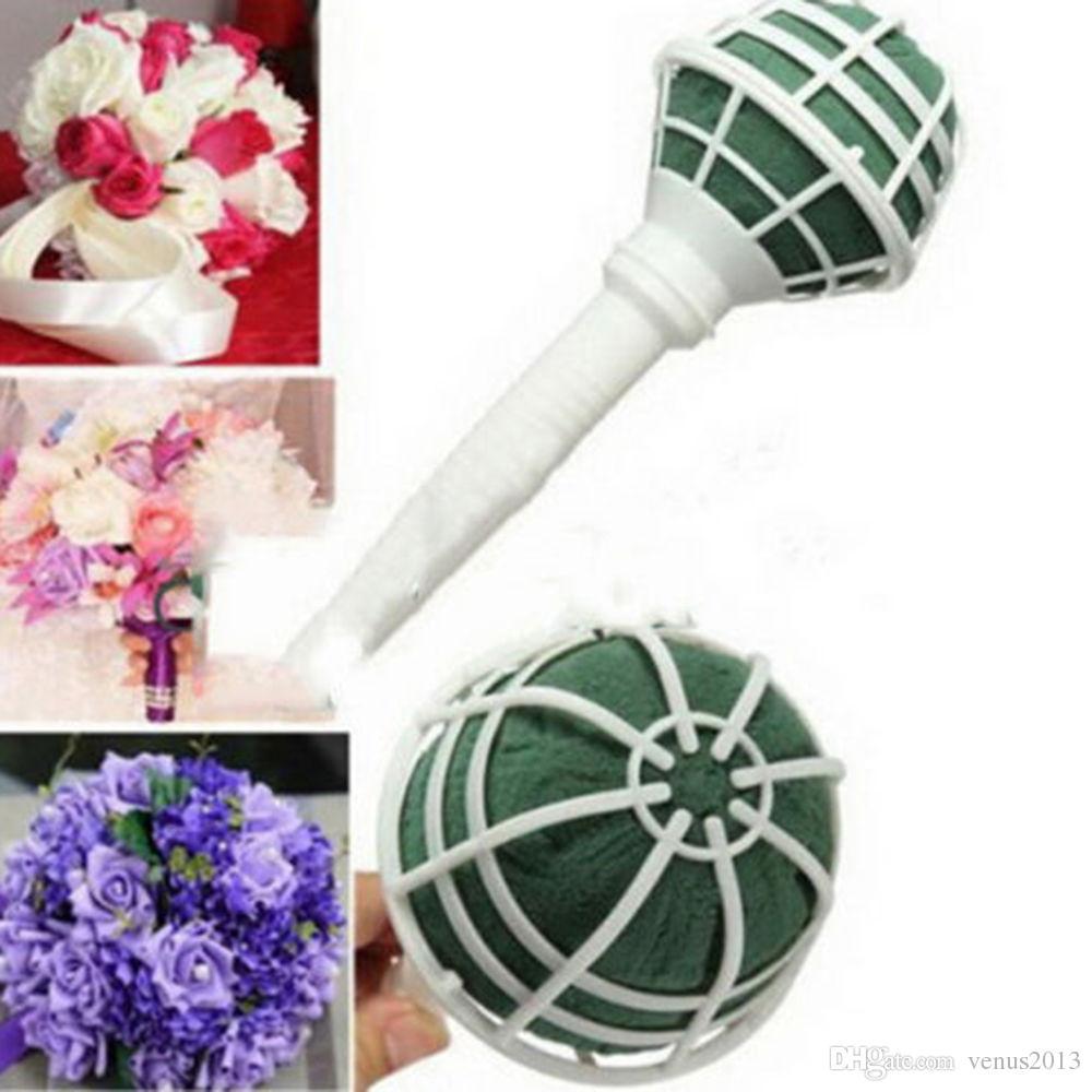 flower Bouquet Holder Handle Bridal Floral Foam Wedding Flower Holder