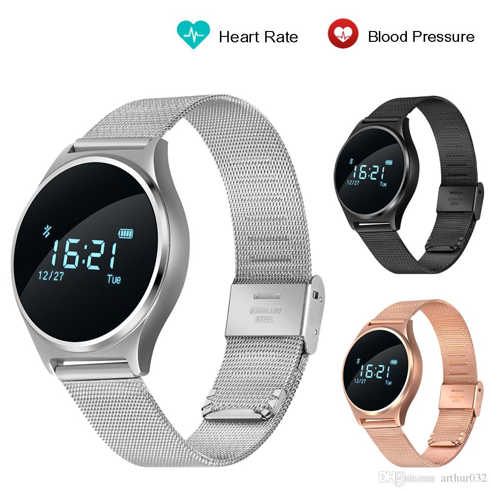 Steel Band M7 Smart Watch Blood Pressure Heart Rate ...
