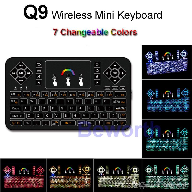 47a895ee067 Colorful Backlight Wireless Mini Keyboard 2.4G Fly Air Mouse ...