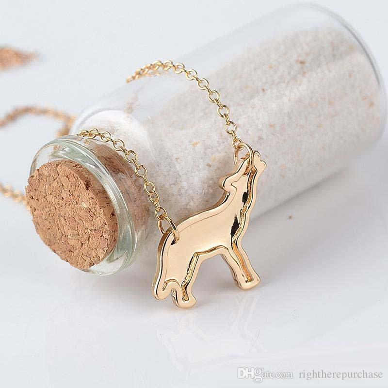 """""""wolf mama""""family love Gift for child or mom wolf suspension necklaces & pendants alloy chain choker jewelry collars wholesale"""