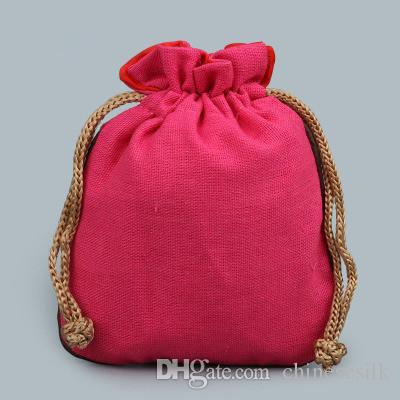 Blank Gioielli Plain Piccolo coulisse Pouch Cotone Lino Eco regalo fai da te Sacchetti imballaggio moneta Profumo Storage Bag vuoto Lavanda spezie Pocket