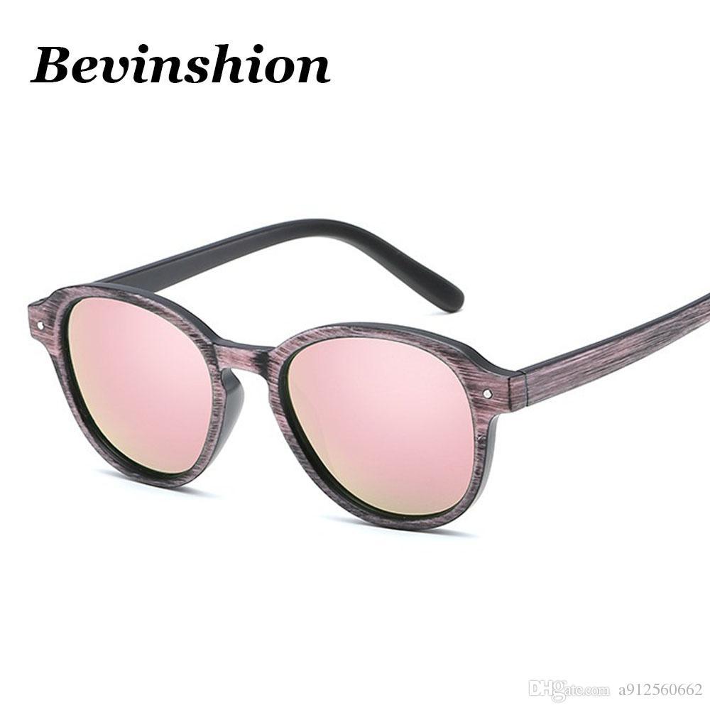 3a5f727a34 Vintage Rivet Cat Eye Sunglasses Women Retro Sun Glasses Wood Grain Pink  Mirrors Brand Designer Oculos De Sol New Arrival Shades Fashion Prescription  ...