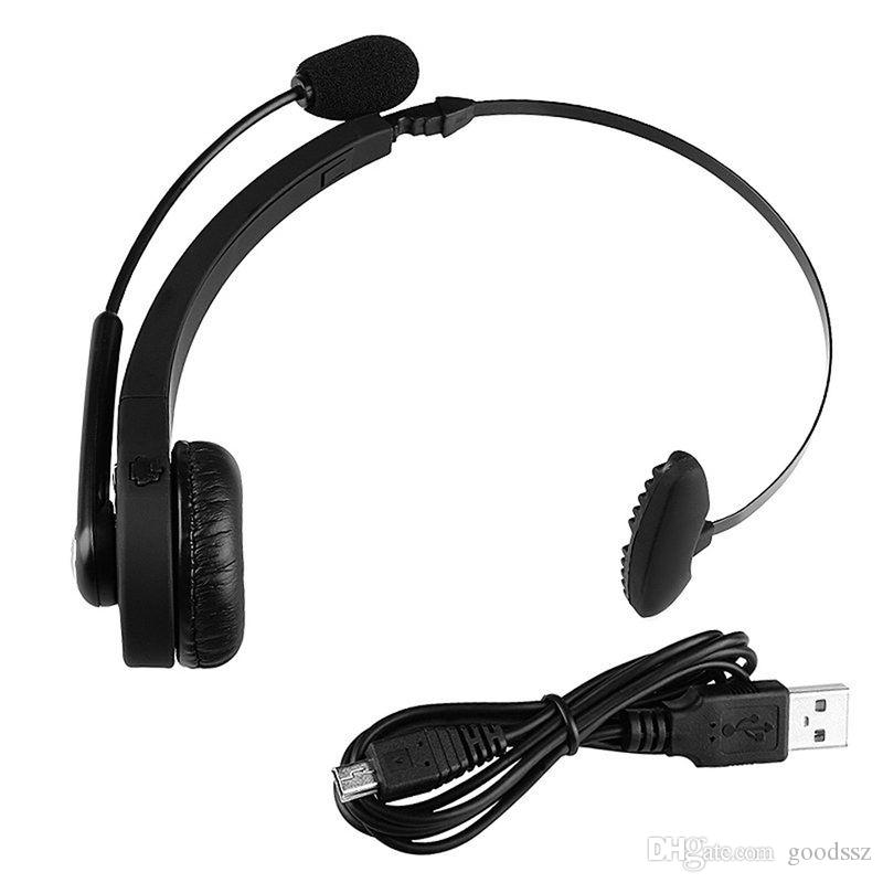Sony PS3 Playstation 3의 새로운 기능 무선 블루투스 헤드셋 Headwearing 게임용 이어폰 마이크 Noice PC 스마트 폰을위한 핸즈프리 취소