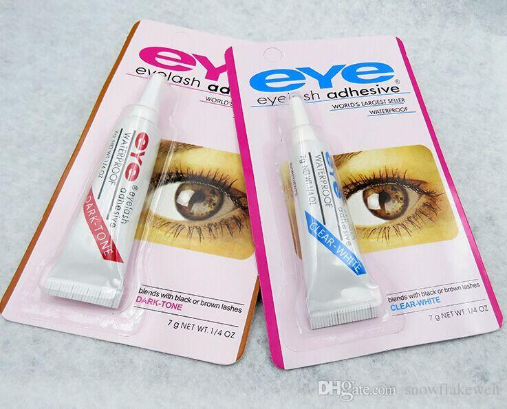 EYE World best selling adhesive WATER PROOF FALSE EYELASH ADHESIVE EYELASH GLUE Eyelash Adhesive 9G Makeup Tool White
