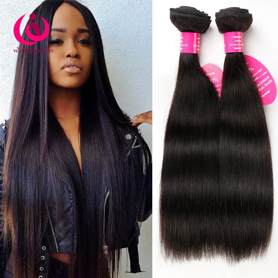 Mongolian Human Straight Hair Weave Bundles Wow Queen Hair Cheap