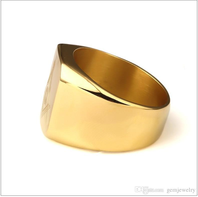 Neue Ankunft Männer Ring Vergoldet HIPHOP Ring Männer Goldene Ringe Punk Rock Schmuck Anillos Bar Club Ein Ring Für Hochzeitsgeschenk