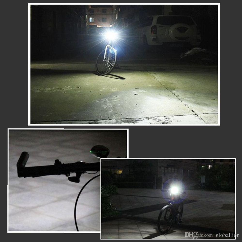 AloneFire Bike Light Head Lampe de poche LED avec lampe de cycle Bell Luces VTT extérieur Vélo de route Phare Haut-parleur Vélo Led Lumière