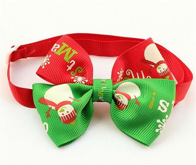 Cute Christmas Dog Bow Tie Cat Cloth Lace Decoration Puppy Necktie Necklace Accessories Christmas Gift for Dogs