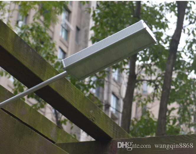 슈퍼 밝은 태양 센서 48 LED 램프 100W 하이라이트 방수 야외 벽 램프 보안 스포트 라이트에 의해 마이크로 웨이브 레이더 모션