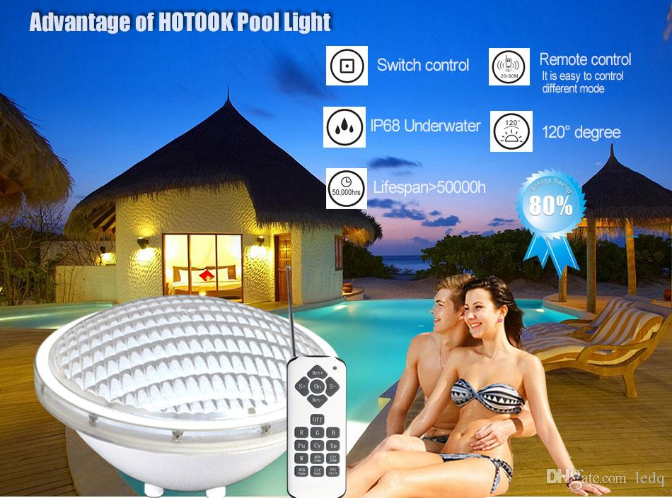 Par56 Outdoor Underwater Swimming Pools Lamp RGB Color Changing 18W 24W 35W Waterproof IP68 Pisicina 12V Warm white Cool white CE ROSH FCC