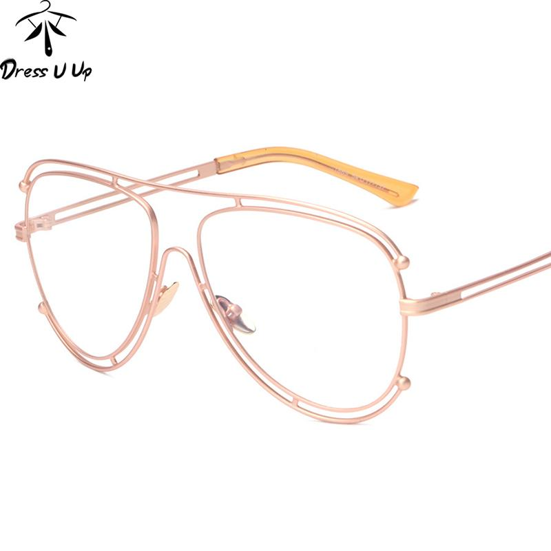 f6fa342967f Wholesale- DRESSUUP 2017 Vintage Oversized Frame Eyeglasses Women ...