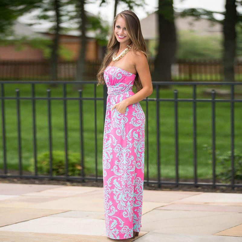 Maxi summer ball dresses