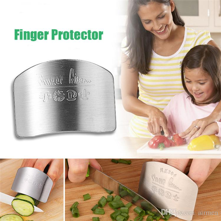 New High quality Stainless Steel Metal Finger Guard Protector Kitchen Knife Chop Cook Cut Free Shiping