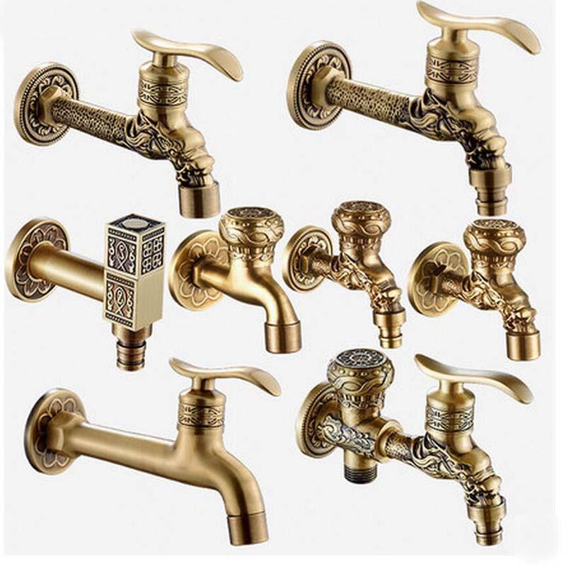 2018 Wholesale Luxury Antique Brass Decorative Outdoor Faucet Garden ...