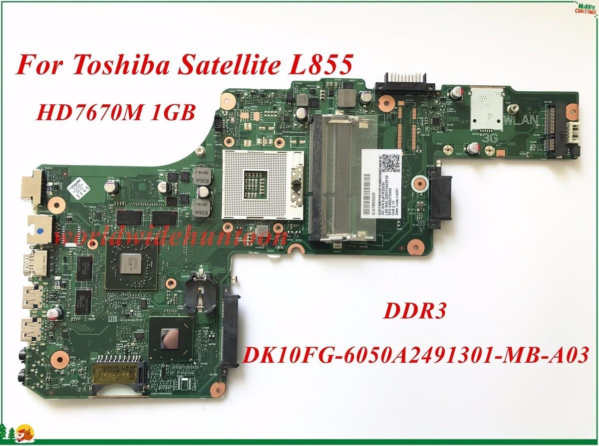 2019 V000275460 For Toshiba Satellite L855 Laptop Motherboard DK10FG