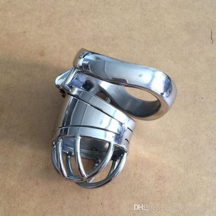 Doctor Mona Lisa - Il nuovo maschio Cylindrical Chastity Cage Device Belt CB acciaio inossidabile Kit Bondage SM Toys