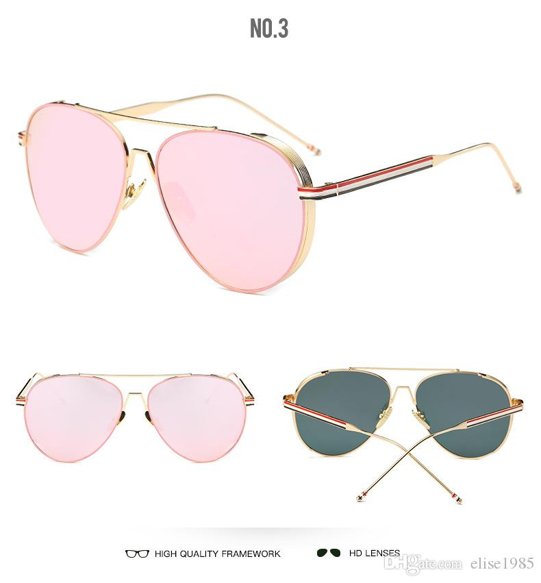 4828ca6891cc 2018 Men Women Fashionable Luxury Brand Sunglasses Retro Classic Sun ...