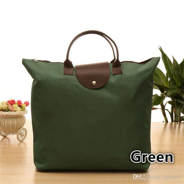 Borsa tote portatile riutilizzabile Borsa tracolla Oxford da spiaggia Borsa da viaggio pieghevole Shopping Borse colorate Eco Recycle Shopping Bags 4639