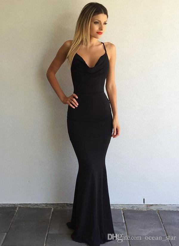 2017 Black Sexy Mermaid Prom Dresses Sweetheart Neck Satin Floor-Length Sleeveless Criss Cross Straps Long Women Evening Party Gowns Custom